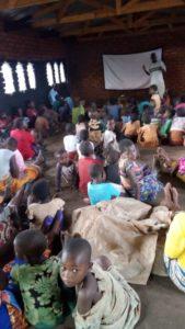 Mobile cinema Backpack Facilitated Film Screening- Down Malawi